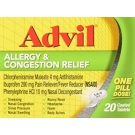 Advil Allergy and Congestion Relief Coated Tablets- 20ct