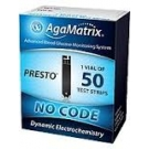AgaMatrix Amp No-Code Blood Glucose Test Strips- 50ct