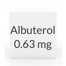 Albuterol 0.63mg/3ml Vial Inhalation Solution (25 X 3ml Vial Box)