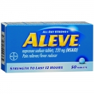 Aleve All Day Strong Pain Reliever Fever Reducer, Tablets - 50ct