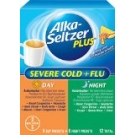 Alka-Seltzer Plus Day & Night Severe Cold + Flu Powder- 12ct