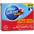 Alka-Seltzer Plus Severe Sinus, Cold & Cough Liquid Gels- 20ct