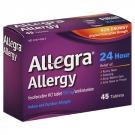 Allegra Allergy 24 Hour Non-Drowsy Tablets, 180mg- 45ct