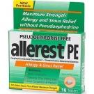 Allerest PE Allergy & Sinus Relief, Tablets - 18ct