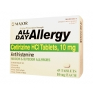 Major Rugby All Day Allergy Tablet- 45ct