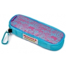 AllerMates EpiPen/AuviQ Allergy Medicine Carrying Case - Pink/Blue Pattern