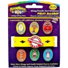 AllerMates Multi Allergy Wristband Plus Six Allergy Charms (Includes Shellfish Charm)