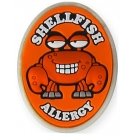 AllerMates Shellfish Allergy Charm for Multi-Allergy Wristband -