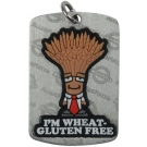 AllerMates Wheat/Gluten Allergy Alert Tag Plus Ball Chain - Silver,