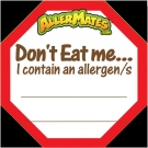 AllerMates Write In Allergen Alert Labels for Food Packages - 24 Label Pack