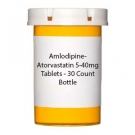 Amlodipine-Atorvastatin 5-40mg Tablets - 30 Count Bottle
