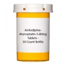 Amlodipine-Atorvastatin 5-80mg Tablets - 30 Count Bottle