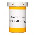 Amoxicillin/Clavulanate 200-28.5mg Chew Tablets