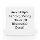 Anoro Ellipta 62.5mcg/25mcg  Inhaler (60 Blisters) (30 Doses)