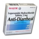 Major Anti-Diarrheal (Loperamide 2mg) Capsules - 12 Count Box