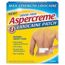 Aspercreme Maximum Strength Odor Free 4% Lidocaine Patches - 5ct