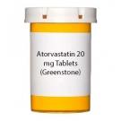Atorvastatin 20 mg Tablets (Greenstone)