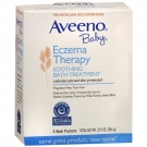 Aveeno Baby Eczema Therapy Soothing Bath Treatment, Single Use Packets- 5ct