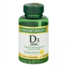 Nature's Bounty Super Strength D-2000 IU Softgels 240ct