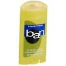 Ban Antiperspirant/Deodorant Invisible Solid, Powder Fresh - 2.6 oz