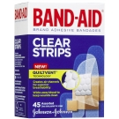 Band-Aid Brand Adhesive Bandages Clear Assorted Strips - 45ct