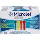 Bayer Microlet Colored Lancets 100/Box