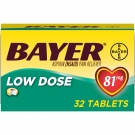Bayer Aspirin Regimen Low Dose 81mg 32 tabs