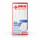 Band-Aid First Aid Rolled Gauze, Large 4 in x 2.5 yds, 1 roll