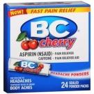 BC Aspirin Fast Pain Relief Headache Powder Cherry Packets 24 ct