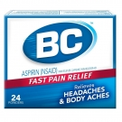 BC Aspirin Fast Pain Relief Headaches & Body Aches Powders - 24 CT