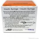 BD Micro-Fine IV Lo-Dose Insulin Syringe 28 Gauge, 1/2cc, 1/2