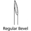 BD Regular Bevel Needles 25 Gauge, 1.5