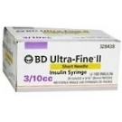 BD Ultrafine II Insulin Syringe  31 Gauge,  3/10cc, 5/16