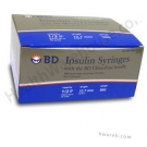 BD Ultrafine Insulin Syringe 30 Gauge,  1/2cc, 1/2