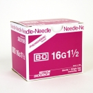 BD Precision Glide Needle Only 16 Gauge 1.5
