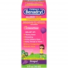 Children's Benadryl D Allergy & Sinus Oral Solution Grape - 4.0 fl oz