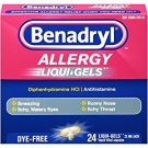 Benadryl Allergy Relief, 25 mg, Liqui-Gels - 24 count
