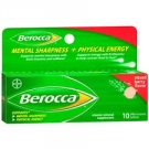 Berocca Mental Sharpness + Physical Energy Effervescent Tablets, Berry- 10ct