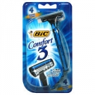 Bic Comfort 3 Disposable Shaver for Sensitive Skin- 4pack