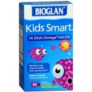 BioGlan Kids Smart Hi DHA Omega-3 Fish Oil 500 mg Chewable Burstlets Berry - 30ct