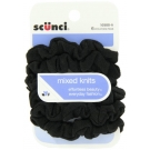 Scünci Effortless Beauty Black Twisters, 8ct- 3 Packs