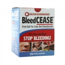 BleedCEASE First Aid for Cuts and Nosebleeds Sterile Packings- 25ct