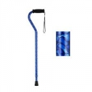 NOVA Medical Products Designer Cane with Offset Handle, Blue Waves