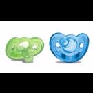The First Years GumDrop Newborn Pacifiers, Blue/Green - 2ct