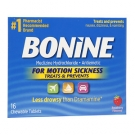 Bonine Antiemetic Chewable Tablets, Raspberry- 16ct