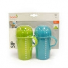 Boon Sip Tall Firm Spout Sippy Cup, 10 Ounce, Blue/Green, 2-Count