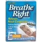 Breathe Right Strip Clear For Dry/Sensitive Skin Large 30 ct.