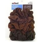 Scünci Color Match Twister, Brunette, 8ct- 3 Packs