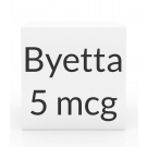 Byetta 5 mcg / 0.02 ml Pen Injection - 1.2 ml Pen Cartridge