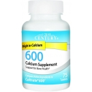 21st Century 600 mg Calcium Supplement, 75 ct